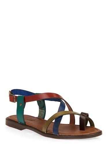 Uniquer Sandalet Renkli
